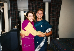 Ray Barnhart and friend  (not Sarah), 1998.